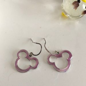 Light Purple Mickey Mouse Earrings